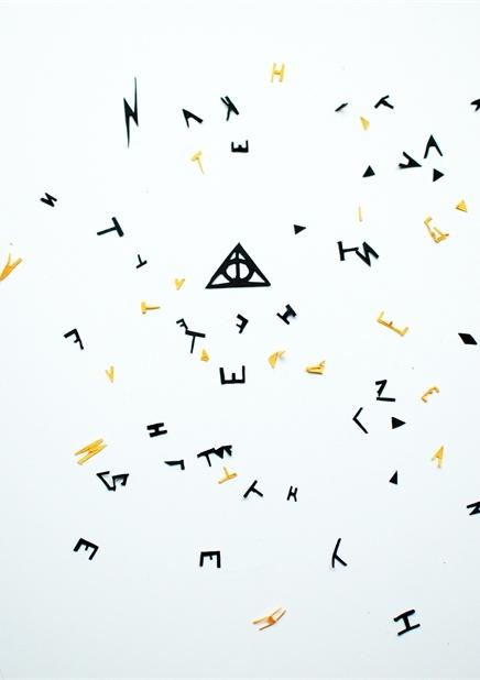 Серия иллюстраций-макетов к книгам Джоан К. Роулинг о Гарри Поттере